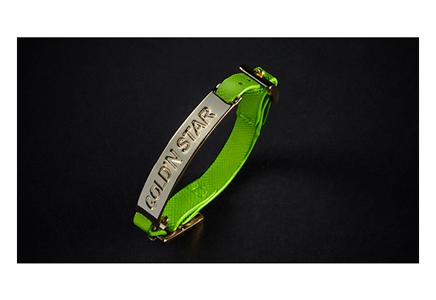 ECO SAFFIANO FLUO GREEN BRACELET